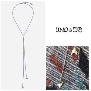 UNOde50 'Telma & Louis' Hammered Y Lariat Necklace